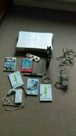 Wii console and some games