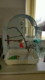 Bird starter cage and accessories