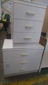 Chest of Drawers and Bedside Table. Matching Set.