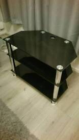Tv stand - black and silver