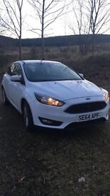 2014 64 Plate White Ford Focus 1.6l 35,000 miles,