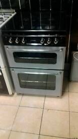 Gas cooker black and silver 60cm