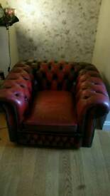 For sale a Chesterfield arm chair