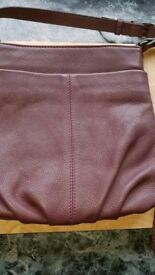 Ladies Clarks leather bag. Purple/aubergine.