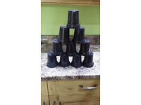 20 New 9cm Black Plastic Rigid Plant Pots