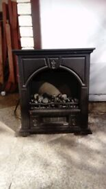 Cast iron electric fire place
