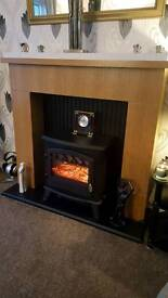electric fan convertor heater and fireplace