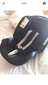 Cybex Aton car seat (with newborn insert and Bugaboo bee adaptors if needed)