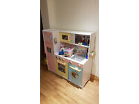 Deluxe Girl's Wooden Play Kitchen by Kidcraft in excellent condition