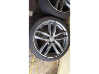 Audi s3 s4 s5 s6 18inc 8j wheels with nearly new run flats