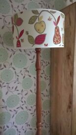 Traditional Floor Lamp. Standard Lamp solid Wood with Designer Lightshade.