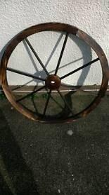 Wooden Wagon wheels x 3