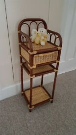 Cane/Wicker, Wot Not/Hall table/Bedside in excellent condition
