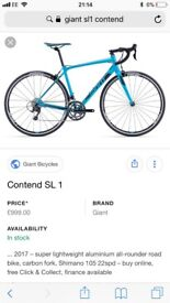 Giant contend SL1 2017 Brand new