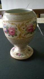old flowery vase