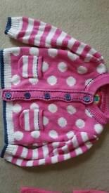 Pink dotty Cardigan 9-12 months