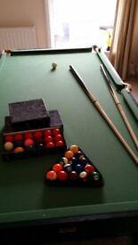 bce 6ft folding pool table