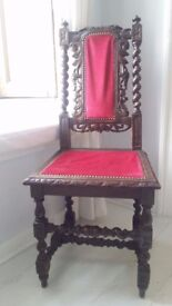 Stunning Edwardian antique/vintage chair with intricate detail