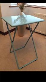 Habitat blue foldaway metal lightweight table