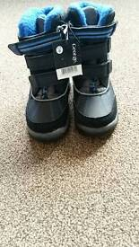 Boys kids winter casual mucker Wellington warm fur snow boots size 8 new with tags aston s26