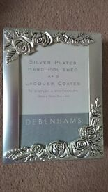 Debenham silver plated Photo album
