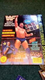 WWF wrestling poster magazines