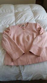 Peach suede-look jacket