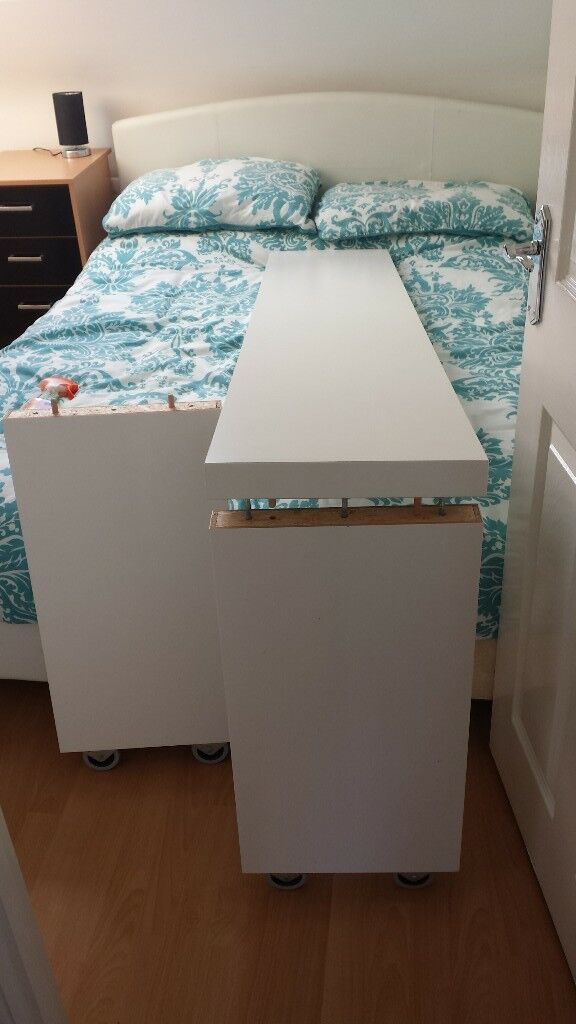 over bed roller table