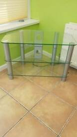 Glass TV and games stand
