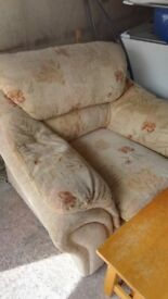 Comfortable armchair and coffee table free to collector