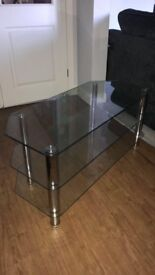 Glass TV stand for sale, Great condition, used, No Damage, great price