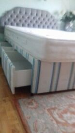 Double divan bed base and mattress - Free to collect