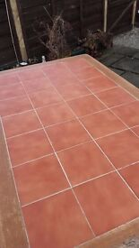 Bistro style tiled top tables