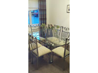 Glass Dining Table Including 6 Chairs