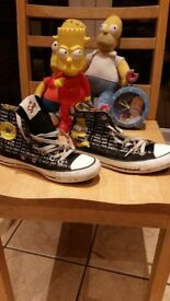 All Star Converse boots, Simpsons design with free Simpsons toys & Vans boots