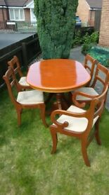 Dining set (table and chairs)
