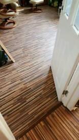 Zebrano wood floor