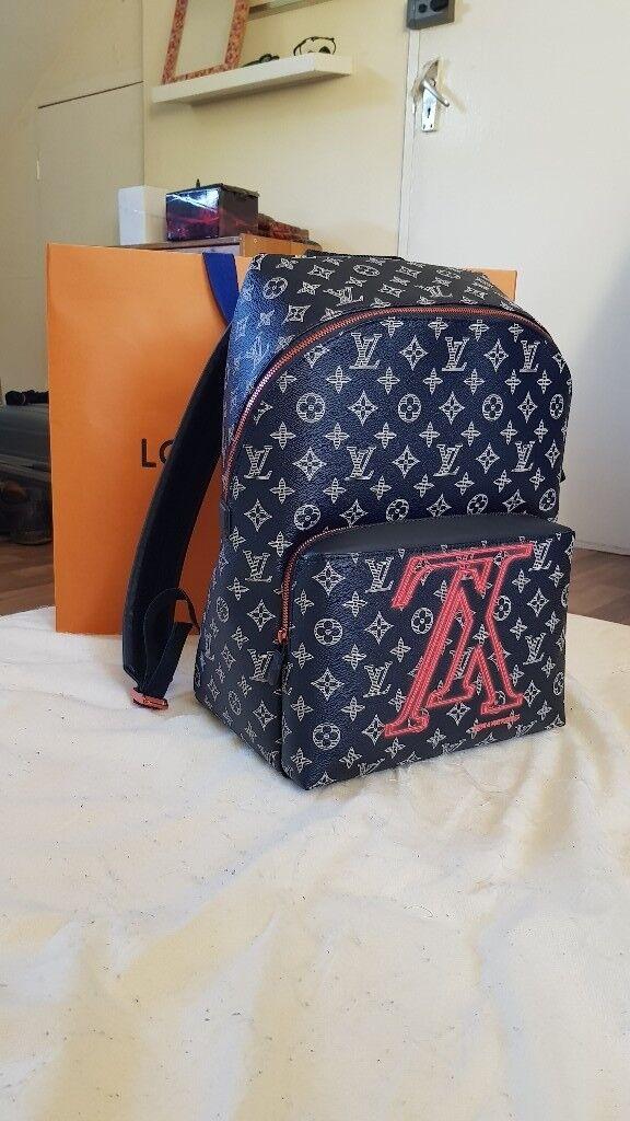 6ade60ab030e Louis Vuitton 2018 Upside Down Monogram LV Apollo Backpack Kim Jones Ink  M43676