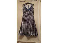 Size 16 poka dot tea dress