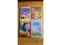 6 DVDs: Bob the builder, Peppa pig, Thomas the tank Engine