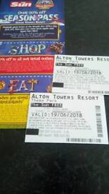 Alton towers tickets 19th june 2018
