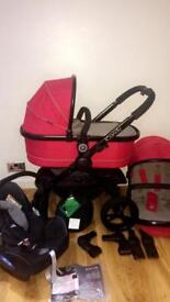 Icandy peach 🍑 3 travel system with car seat & isofix can post