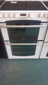 Belling 60cm ceramic cooker in white perfect working order and in good clean condition