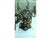 Traditional Ship Wheel Ornament
