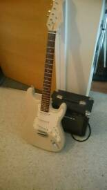 Starter guitar and practice amp