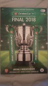 Arsenal Vs Man City Carabao Cup Final 2018 Programme