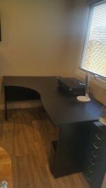 Black Ergonomic Office Desk