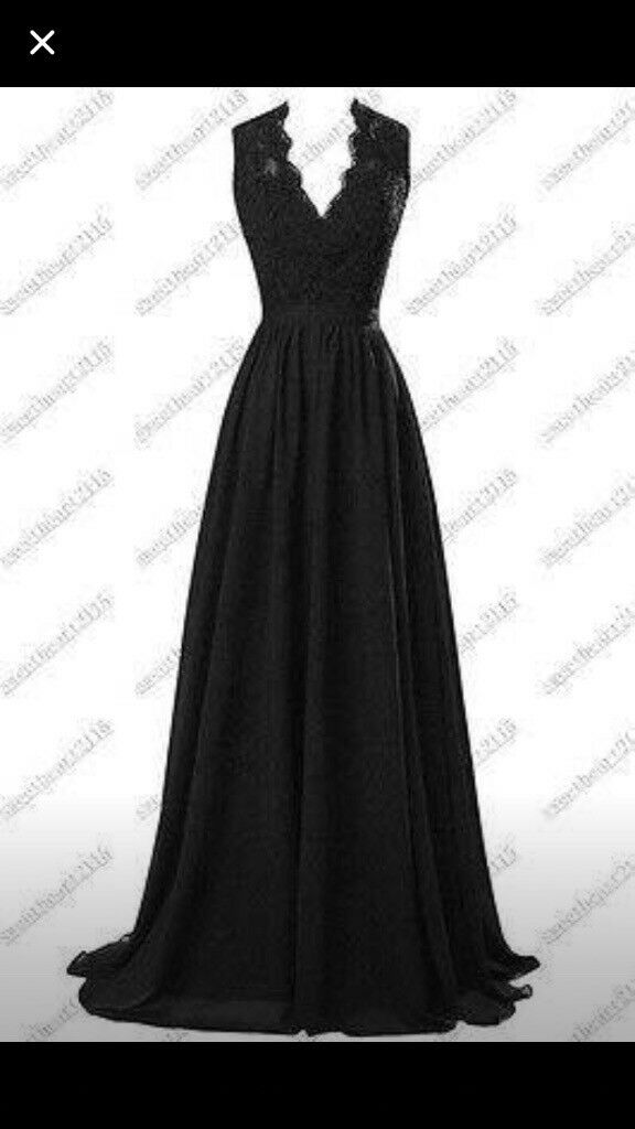 Gorgeous black dress for sale brand new never worn could be used as bridesmaid dress