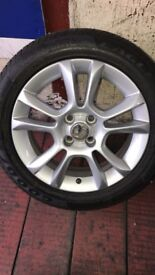 """corsa alloys 16"""" and tyre included, alloys and rubber tyres size is = 195 55 16"""