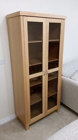 Next Beech Tall Display Cabinet